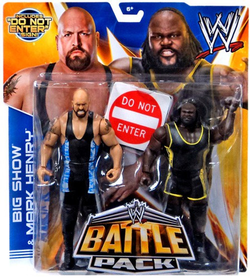 WWE Wrestling Battle Pack Series 27 Big Show & Mark Henry Action Figure 2-Pack [Do Not Enter Sign]