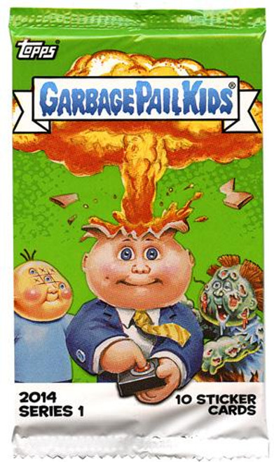 Garbage Pail Kids Topps 2014 Series 1 Trading Card RETAIL Pack [10 Sticker Cards]