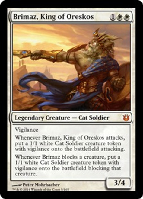 MtG Born of the Gods Mythic Rare Brimaz, King of Oreskos #5