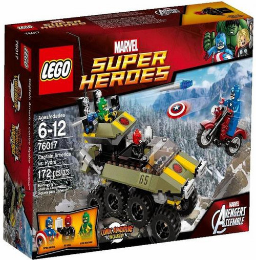 LEGO Marvel Super Heroes Avengers Assemble Captain America vs Hydra Set #76017