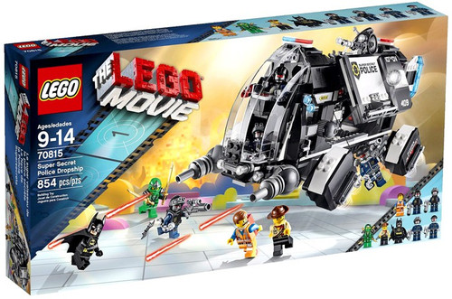 The LEGO Movie Super Secret Police Dropship Set #70815