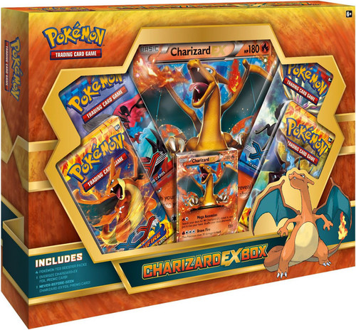 Pokemon Trading Card Game XY Charizard EX Box [4 Booster Packs, Promo Card & Oversize Card]