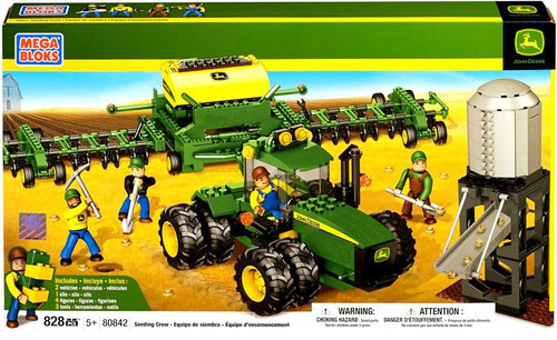 Mega Bloks American Builders John Deere Seeding Crew Set #80842