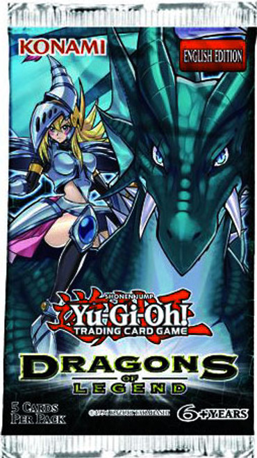 YuGiOh Trading Card Game Dragons of Legend Booster Pack