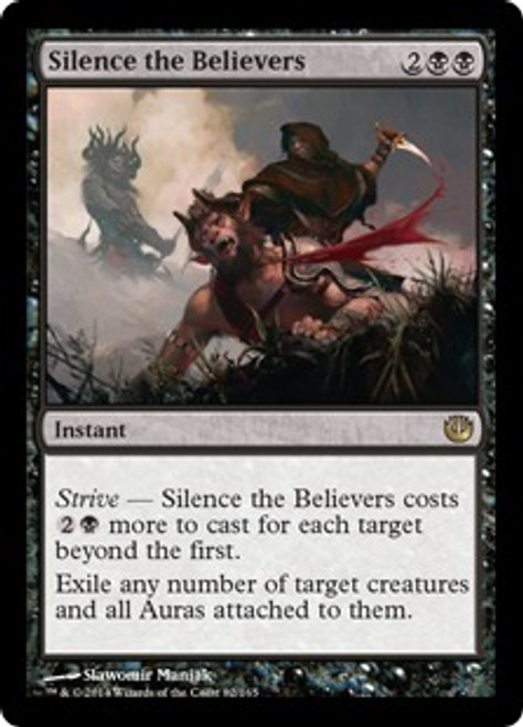 MtG Journey Into Nyx Rare Silence the Believers #82
