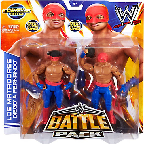 WWE Wrestling Battle Pack Series 29 Los Matadores Diego & Fernando Action Figure 2-Pack [2 Matador hats]