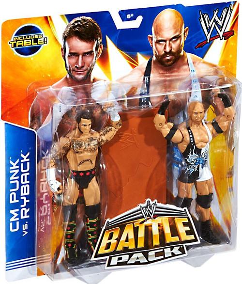 WWE Wrestling Battle Pack Series 29 CM Punk & Ryback Action Figure 2-Pack [Table]