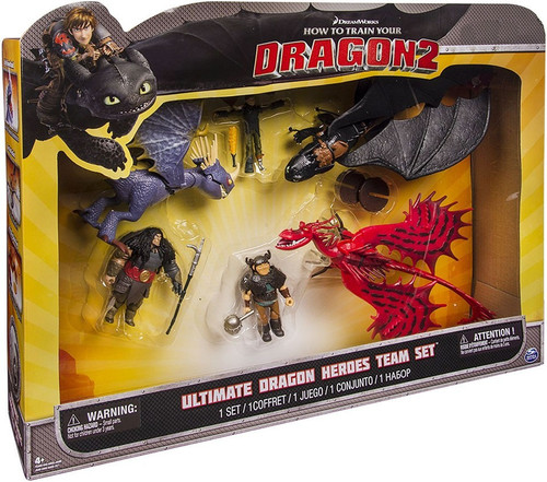 How to Train Your Dragon 2 Ultimate Dragon Heroes Team Set Exclusive Action Figure 6-Pack