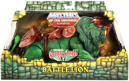 Masters of the Universe Classics Club Eternia Battle Lion Exclusive Action Figure [The Power of Gray Skull]