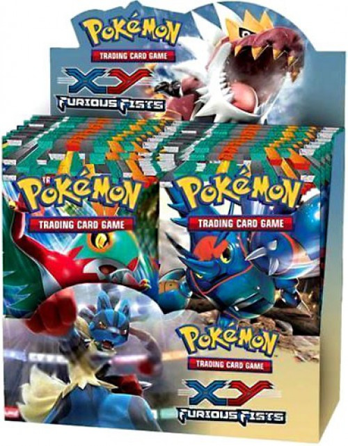 Pokemon Trading Card Game XY Furious Fists Booster Box [36 Packs]