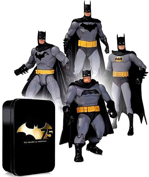 Batman 75th Anniversary Frank Miller, Greg Capullo, Alex Ross & Super Friends Action Figure 4-Pack