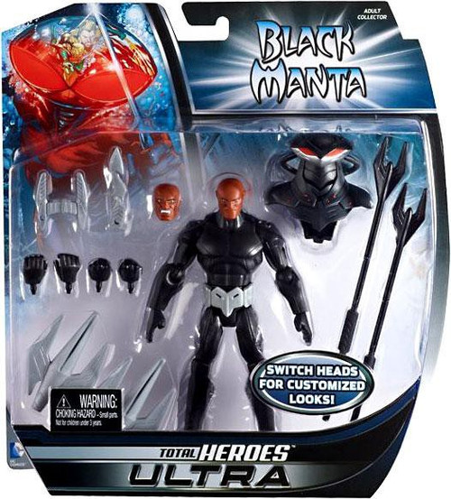 DC Total Heroes Ultra Black Manta Exclusive Action Figure
