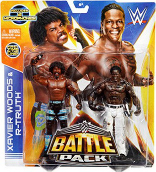 WWE Wrestling Battle Pack Series 30 Xavier Woods & R-Truth Action Figure 2-Pack [2 Microphones]