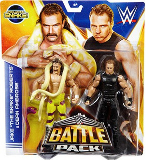 WWE Wrestling Battle Pack Series 30 Jake The Snake Roberts & Dean Ambrose Action Figure 2-Pack [Snake]