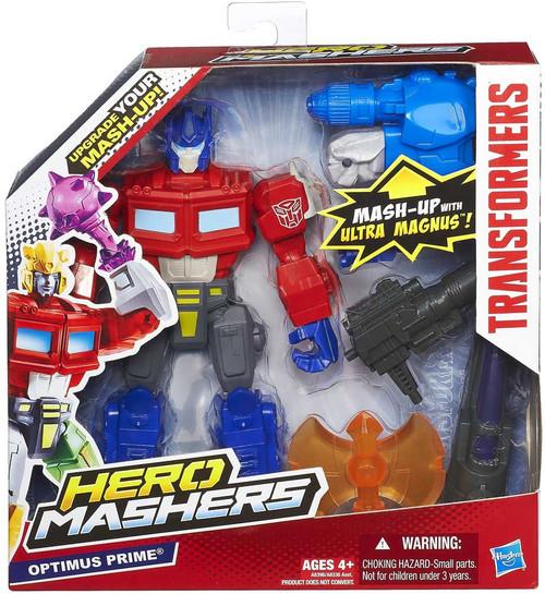Transformers Hero Mashers Battle Upgrades Optimus Prime Action Figure
