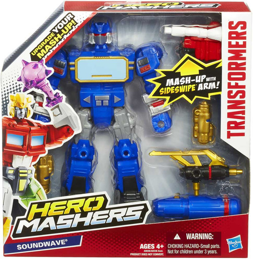 Transformers Hero Mashers Battle Upgrades Soundwave Action Figure