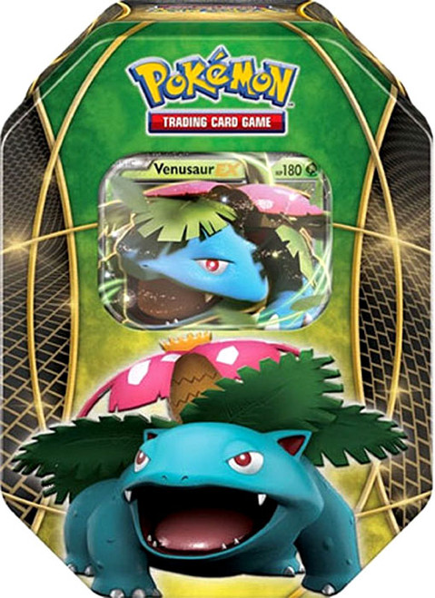 Pokemon Trading Card Game XY Venusaur-EX Tin Set [4 Booster Packs & Promo Card]