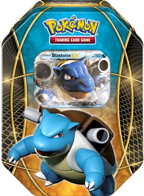 Pokemon Trading Card Game XY Blastoise-EX Tin Set [4 Booster Packs & Promo Card]