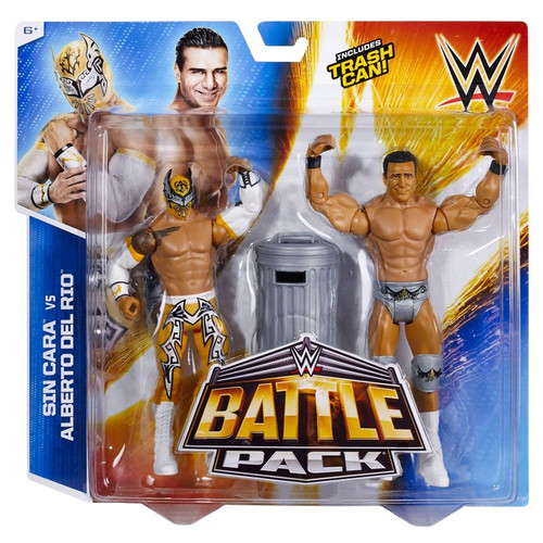 WWE Wrestling Battle Pack Series 31 Sin Cara & Alberto Del Rio Action Figure 2-Pack [Trash Can]