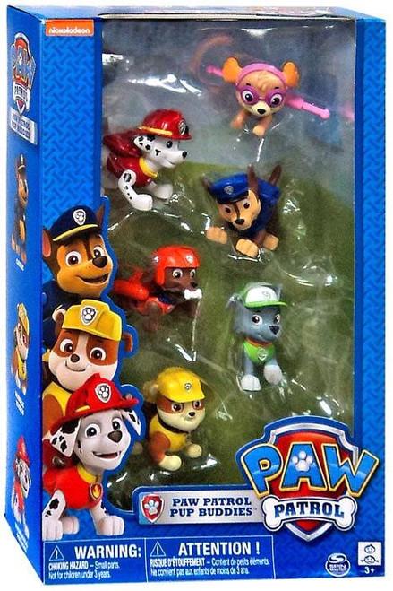 Paw Patrol Pup Buddies Chase, Marshall, Rocky, Skye, Zuma & Rubble Exclusive Figure 6-Pack
