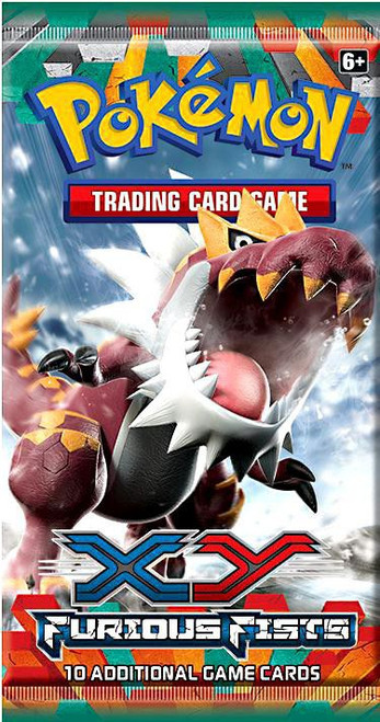 Pokemon Trading Card Game XY Furious Fists Booster Pack [10 Cards]
