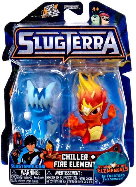 Slugterra Series 4 Chiller & Fire Elemental Mini Figure 2-Pack