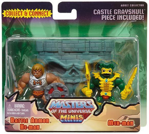 Masters of the Universe Minis Battle Armor He-Man & Mer-Man Exclusive Mini Figure 2-Pack