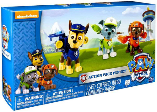 Paw Patrol Action Pack Pup Set Chase, Rocky & Zuma Figure 3-Pack