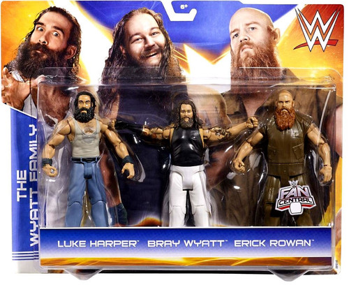 WWE Wrestling Luke Harper, Bray Wyatt & Erick Rowan Exclusive Action Figure 3-Pack [Wyatt Family]