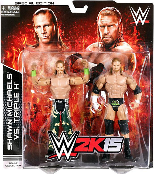 WWE Wrestling Battle Pack 2K15 Shawn Michaels & Triple H Exclusive Action Figure 2-Pack
