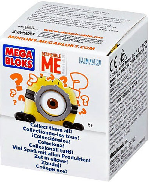 Mega Bloks Despicable Me Minion Made Series 1 Mystery Pack #94800 [1 RANDOM Figure]