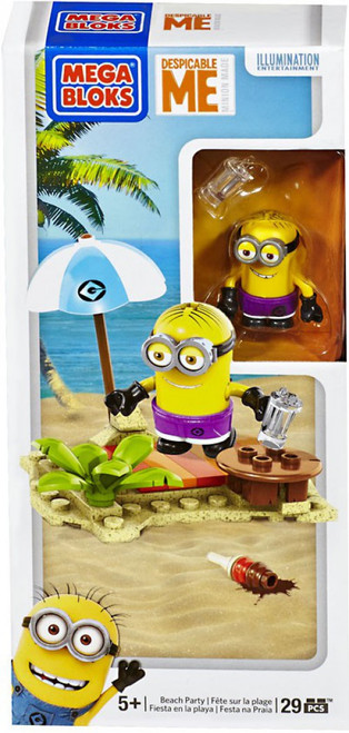 Mega Bloks Despicable Me Minion Made Beach Party Set #94808