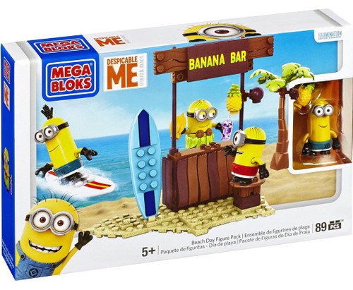 Mega Bloks Despicable Me Minion Made Beach Day Set #94815