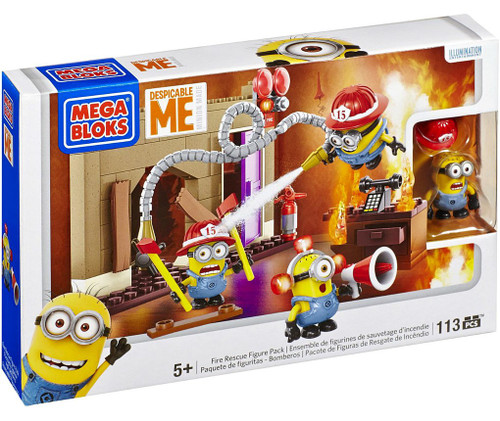 Mega Bloks Despicable Me Minion Made Fire Rescue Set #94816