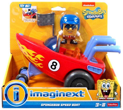 Fisher Price Spongebob Squarepants Imaginext Spongebob Speed Boat Vehicle Set