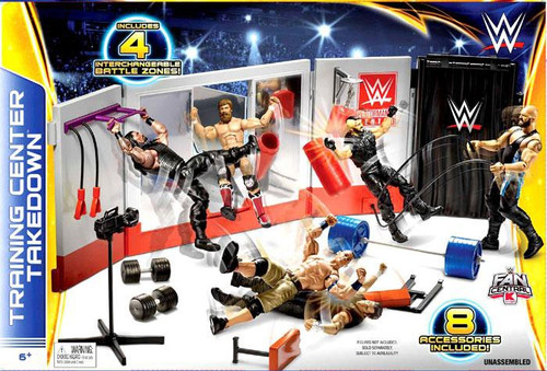 WWE Wrestling Fan Central Training Center Takedown Exclusive Playset