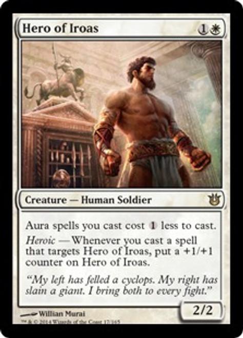 MtG Born of the Gods Rare Foil Hero of Iroas #17