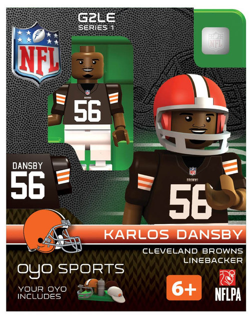 Cleveland Browns NFL Generation 2 Series 1 Karlos Dansby Minifigure