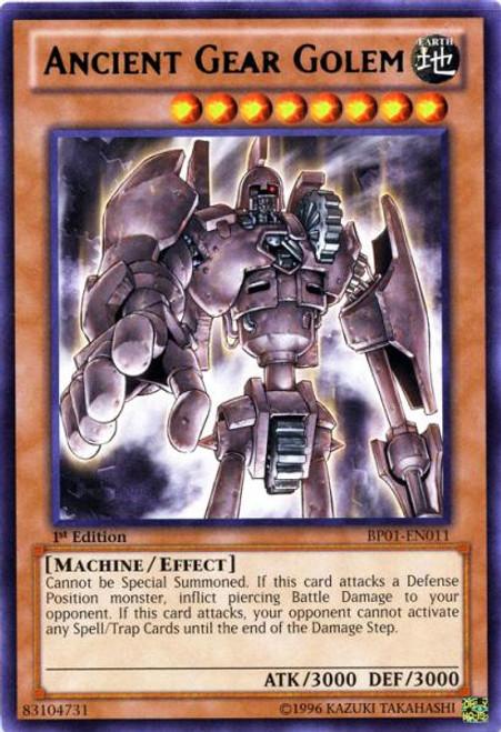 YuGiOh Battle Pack: Epic Dawn Starfoil Ancient Gear Golem BP01-EN011