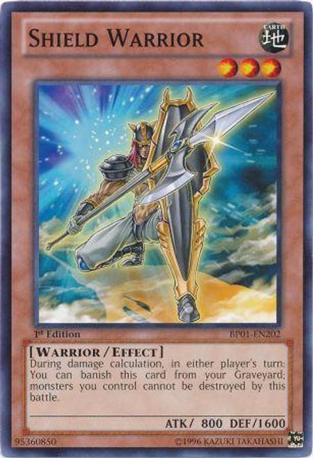 YuGiOh Battle Pack: Epic Dawn Starfoil Shield Warrior BP01-EN202
