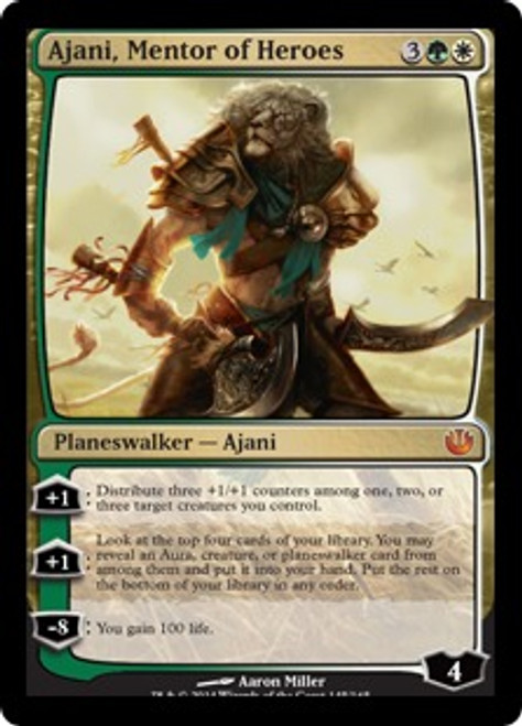 MtG Journey Into Nyx Mythic Rare Ajani, Mentor of Heroes #145 [Korean]