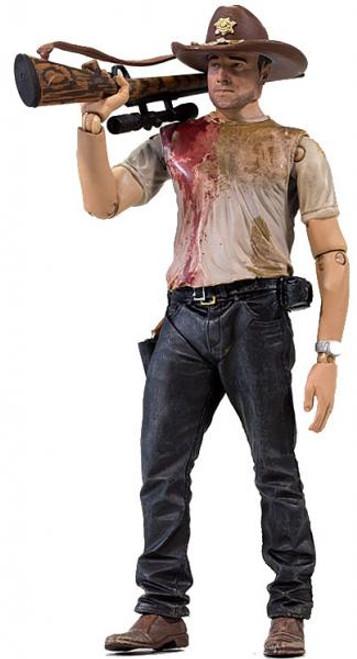 McFarlane Toys The Walking Dead AMC TV Series 2 Deputy Rick Grimes Action Figure [Damaged Package]