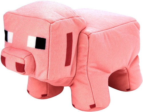Minecraft Pig to Porkchop Reversible Plush