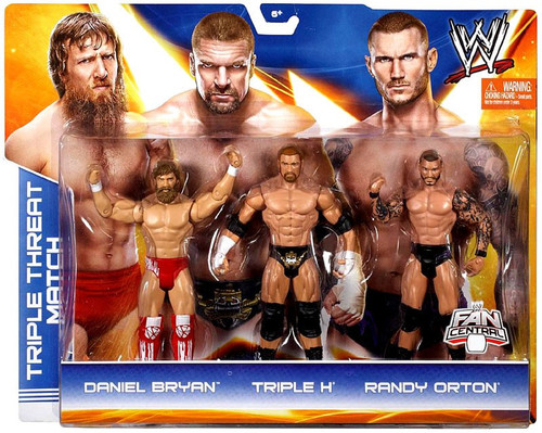 WWE Wrestling Daniel Bryan, Triple H & Randy Orton Exclusive Action Figure 3-Pack [Triple Threat Match]