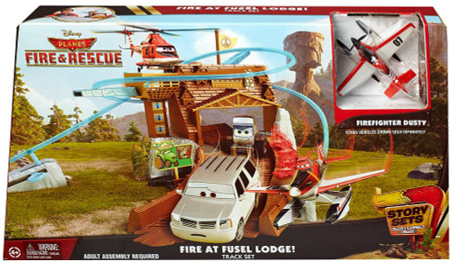 Disney Planes Fire & Rescue Fire at Fusel Lodge Track Set