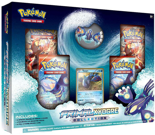 Pokemon Trading Card Game XY Primal Kyogre Collection [4 Booster Packs, Figure & Promo Card]