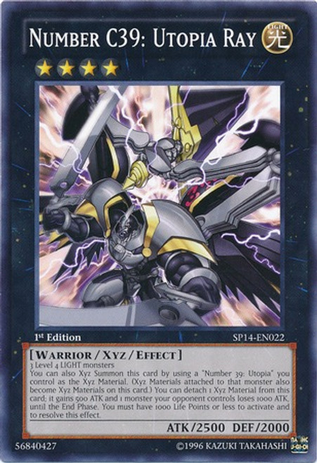 YuGiOh Zexal Star Pack 2014 Starfoil Rare Number C39: Utopia Ray SP14-EN022