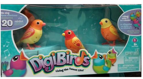 DigiBirds Figure 3-Pack [Orange]
