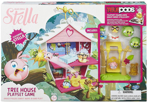 Angry Birds Stella Telepods Tree House Playset Game [Stella, Luca, & Poppy]