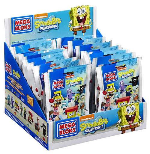 Mega Bloks Spongebob Squarepants Series 1 Mystery Box #94600 [24 Packs]